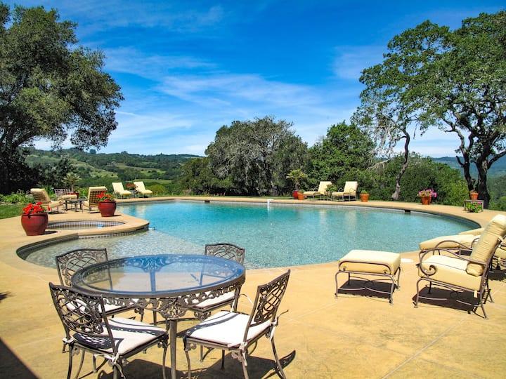 Spacious Vineyard Estate - Pool & Valley Views