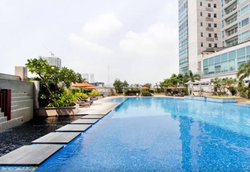 The resort style pool