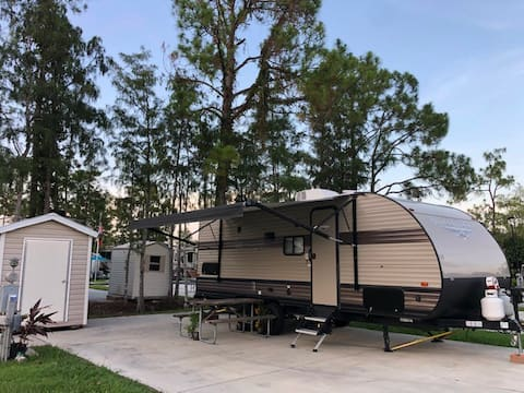 New RV sanitized clean affordable safe resort pool