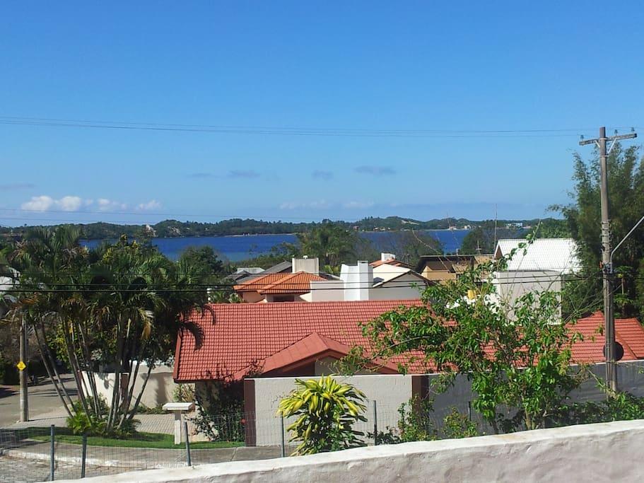 View of Lagoa da Conceicao from Master suite varanda