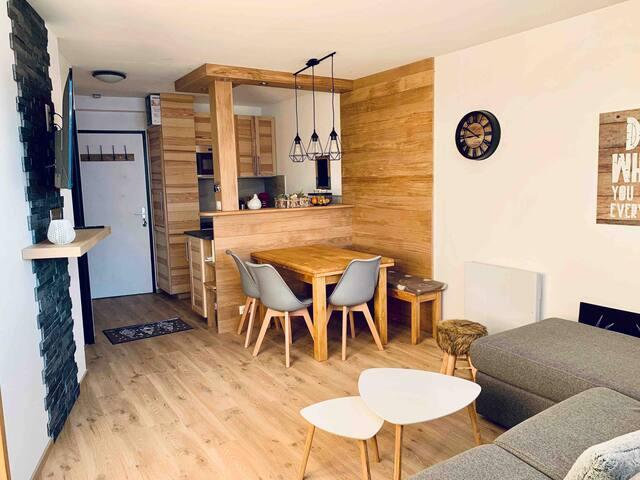 Avoriaz appartement T2 de charme rénové à neuf