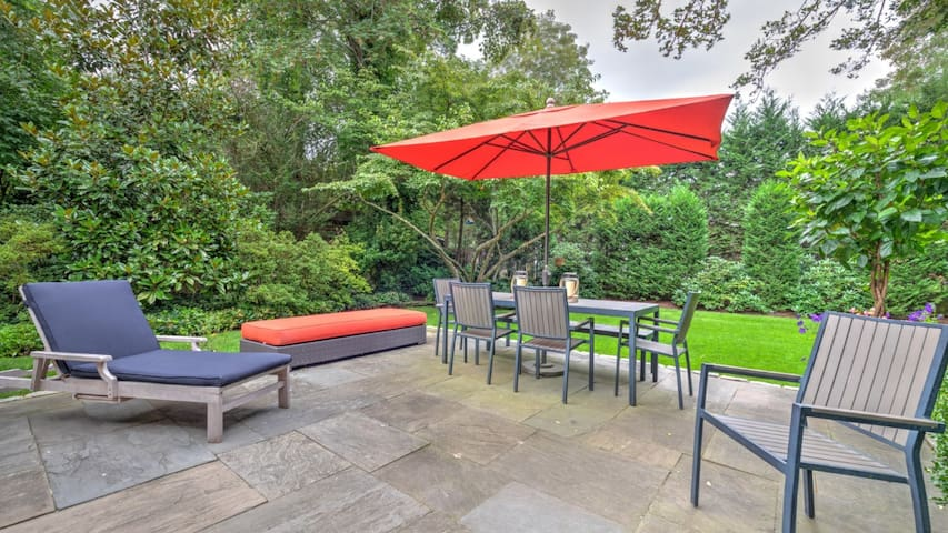 New Listing: Renovated Historic Home, Convenient Location, Sunporch, Central AC, Lush Romantic Gardens