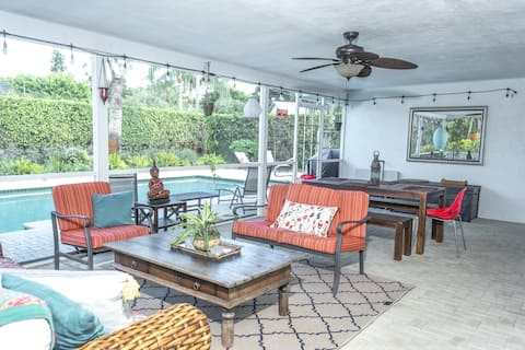 Luxury Boho House with pool minutes from downtown