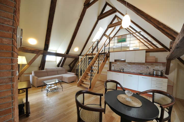 Attic apartment for 4 people near the castle - Český Krumlov - Apartment