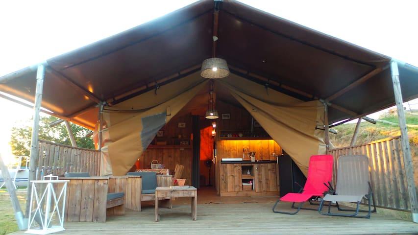 Lodge de luxe dans le vignoble avec piscine