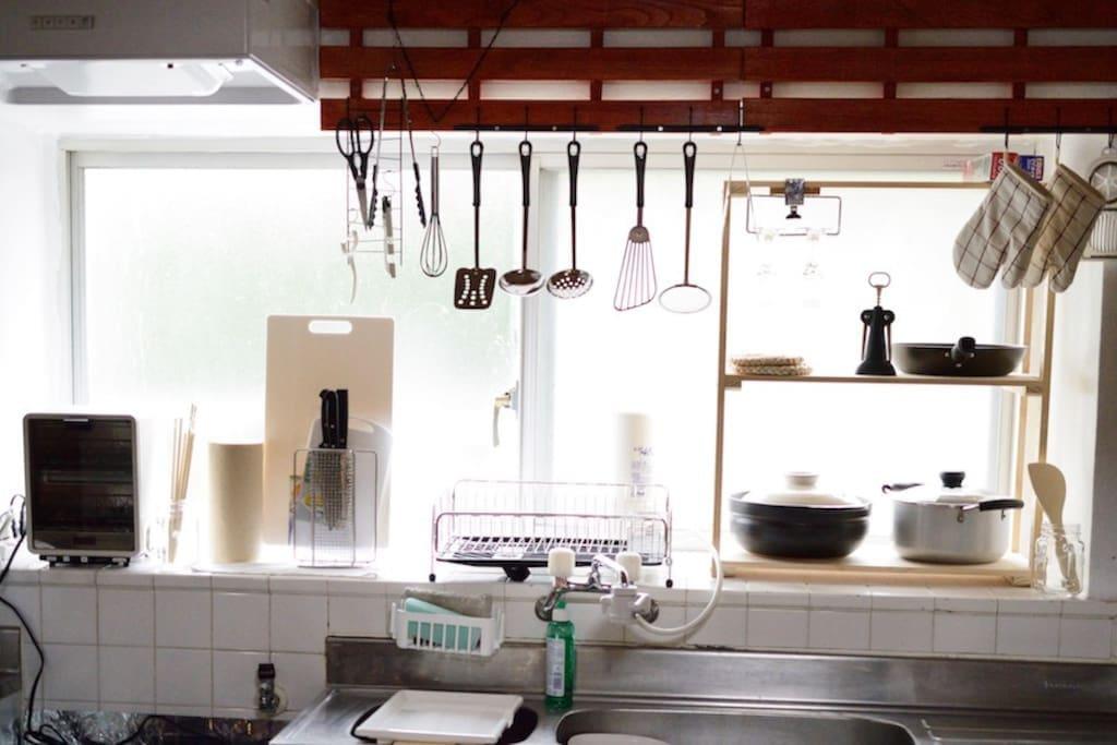 明るいキッチン
