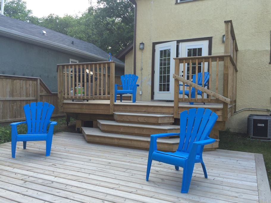 Put your feet up on our spacious deck