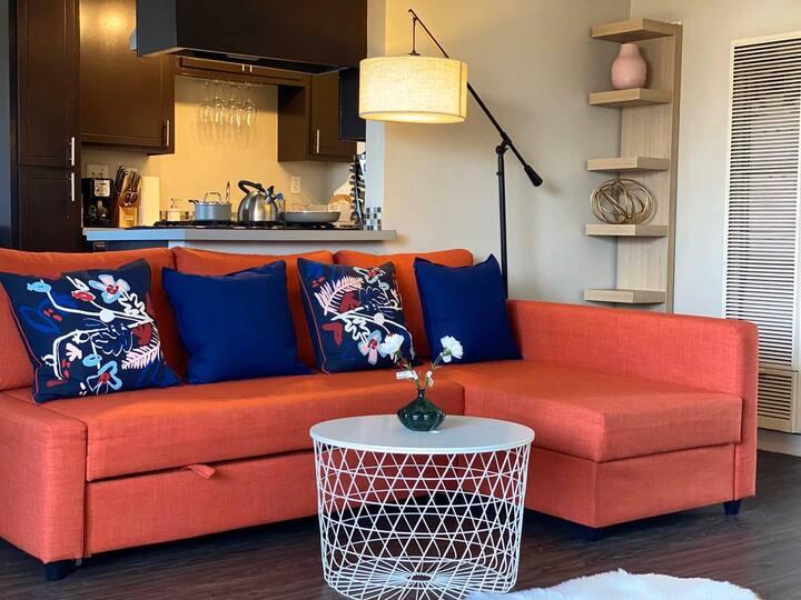 时尚两房一卫公寓 沙发床 可入住6人罗兰岗中心 近60/57高速 迪斯尼