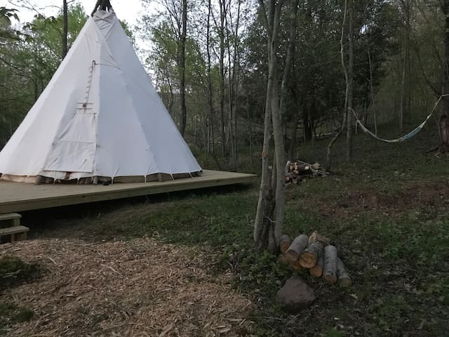 Catskills Family TeePee & FarmStay @waterwheelfarm