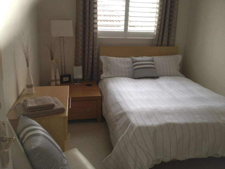 Quiet and peaceful double-bedded room