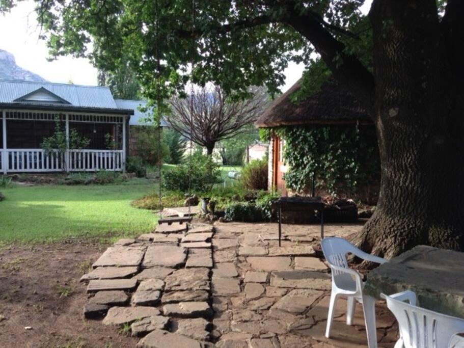 Outside Oak Tree Cottage