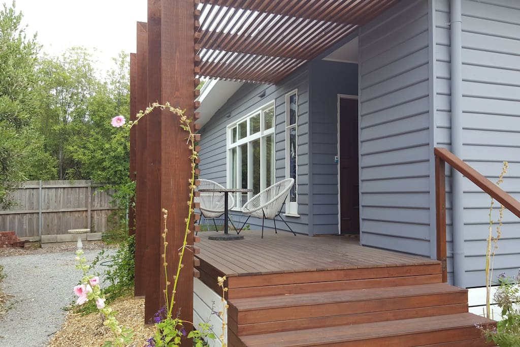 front door and small deck