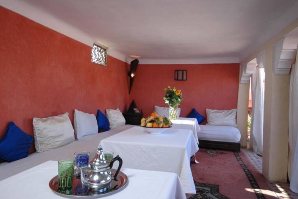 Enjoy breakfast in the roof terrace salon.