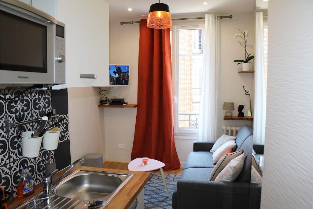 cosy studio montrouge montparnasse parc expo paris appartements louer montrouge le de. Black Bedroom Furniture Sets. Home Design Ideas