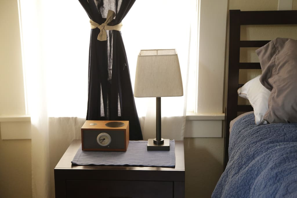 Reading lamp and alarm clock next to your bed if you want to unplug.