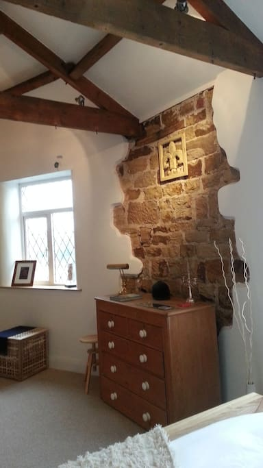 Yorkshire stone features and exposed wooden beams