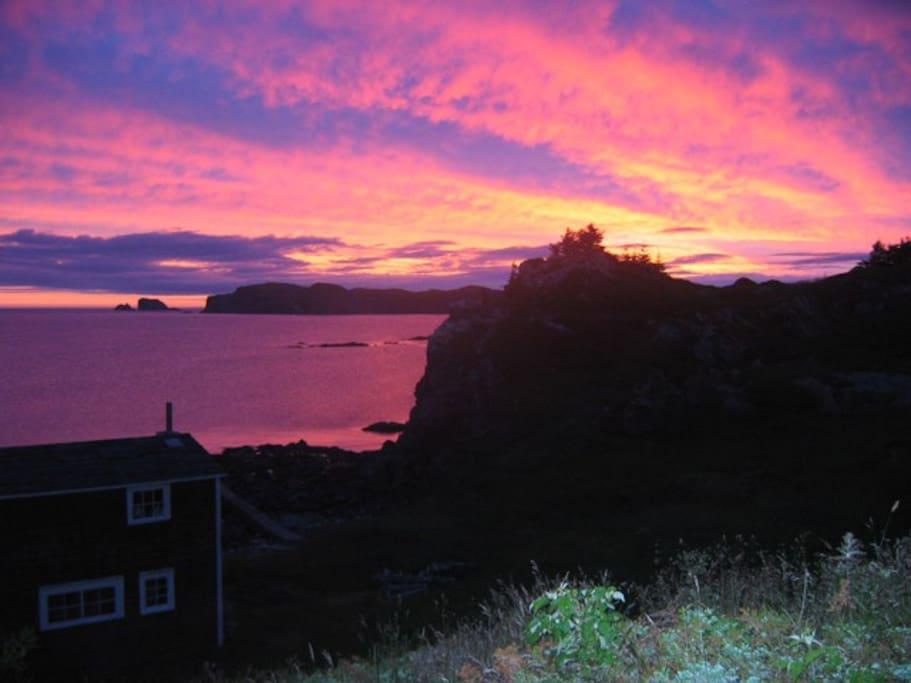 World renowned Twillingate sunset.