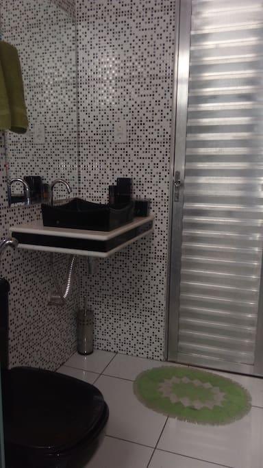 Banheiro Social confortável