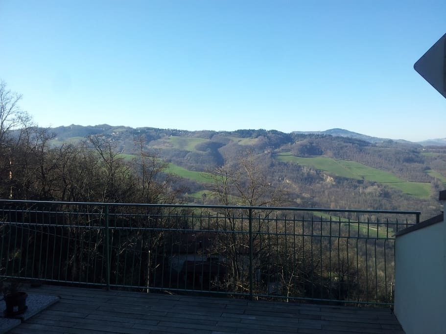 terrace on the  tuscany side