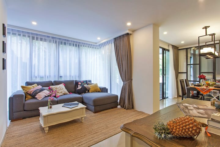 Stylish 2BD apartment in 300m to Surin beach