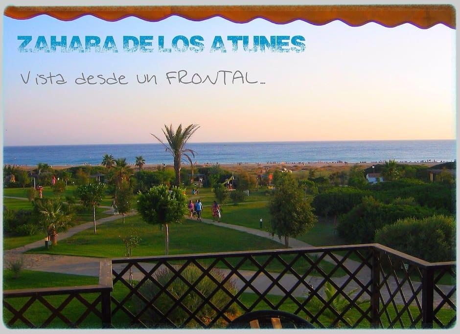 Frontal 3d en 1 linea playa zahara apartments for rent for Piscinas naturales zahara delos atunes