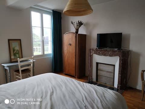 habitación doble en una antigua posada