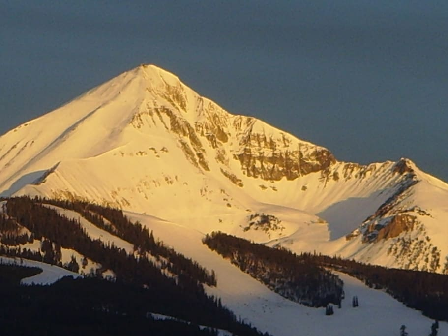 Sunrise on Lone Peak- see it out your window!
