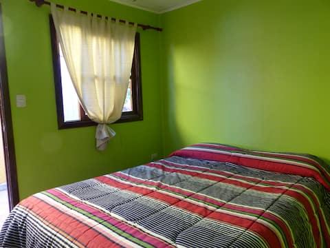 Habitacion matrimonial en el Hostal Pachamama