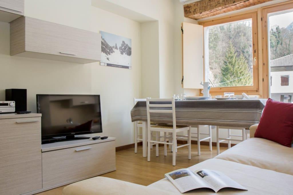 Sorapis ampio 2 camere con vista sulle montagne for Appartamenti in affitto a belluno arredati