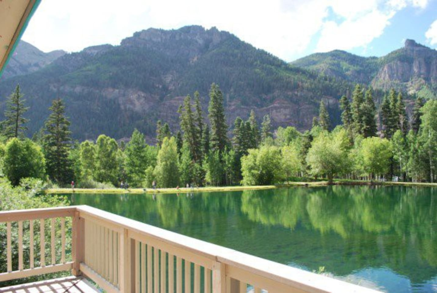 View of San Juan Mountains from Lakefront deck