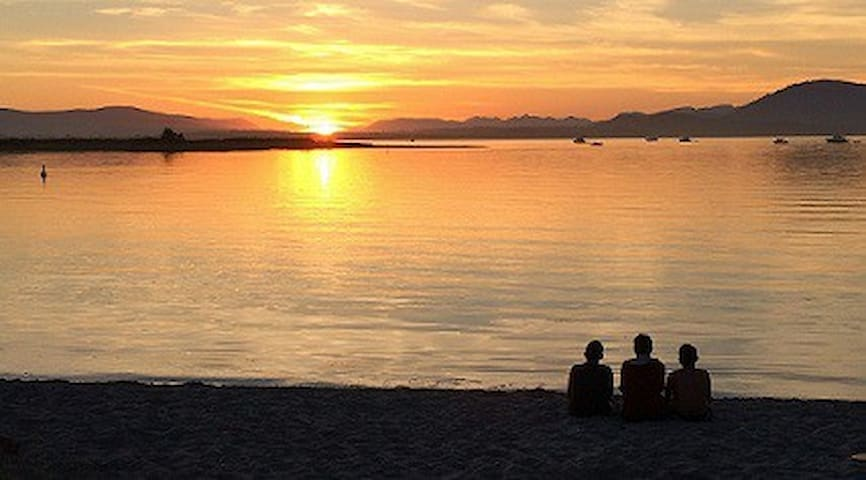 Sun set @ Beautiful Sidney Island(Spit) Access by boat or Alpine Ferry in the Summer
