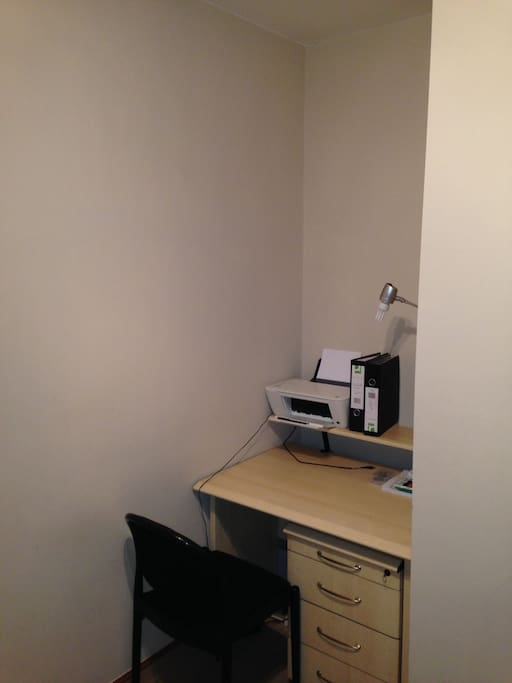 ..but space for a desk, as well as a wardrobe.