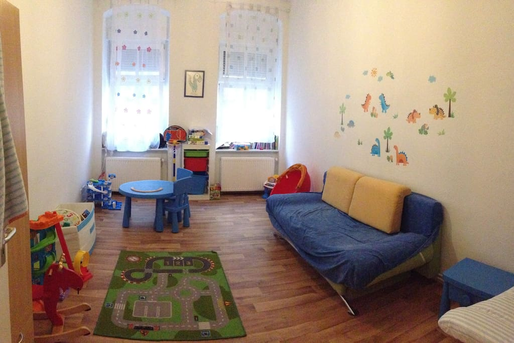Kids room. Sofa opens to a double bed