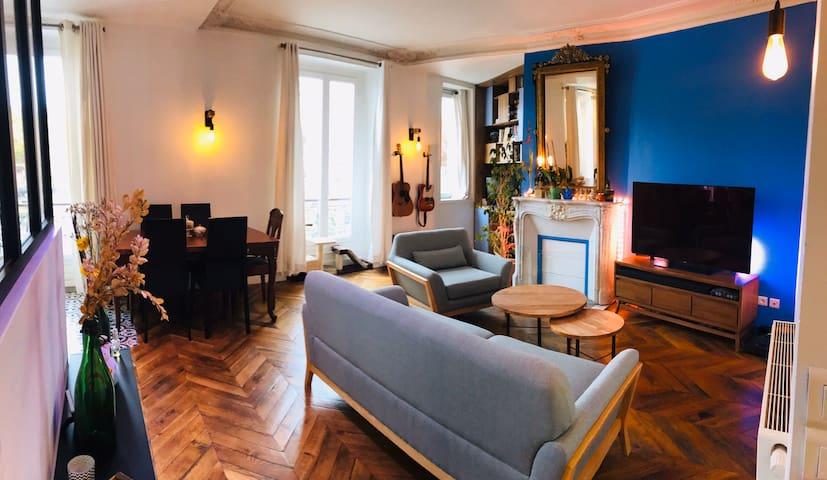 Chambre privée dans bel appartement parisien