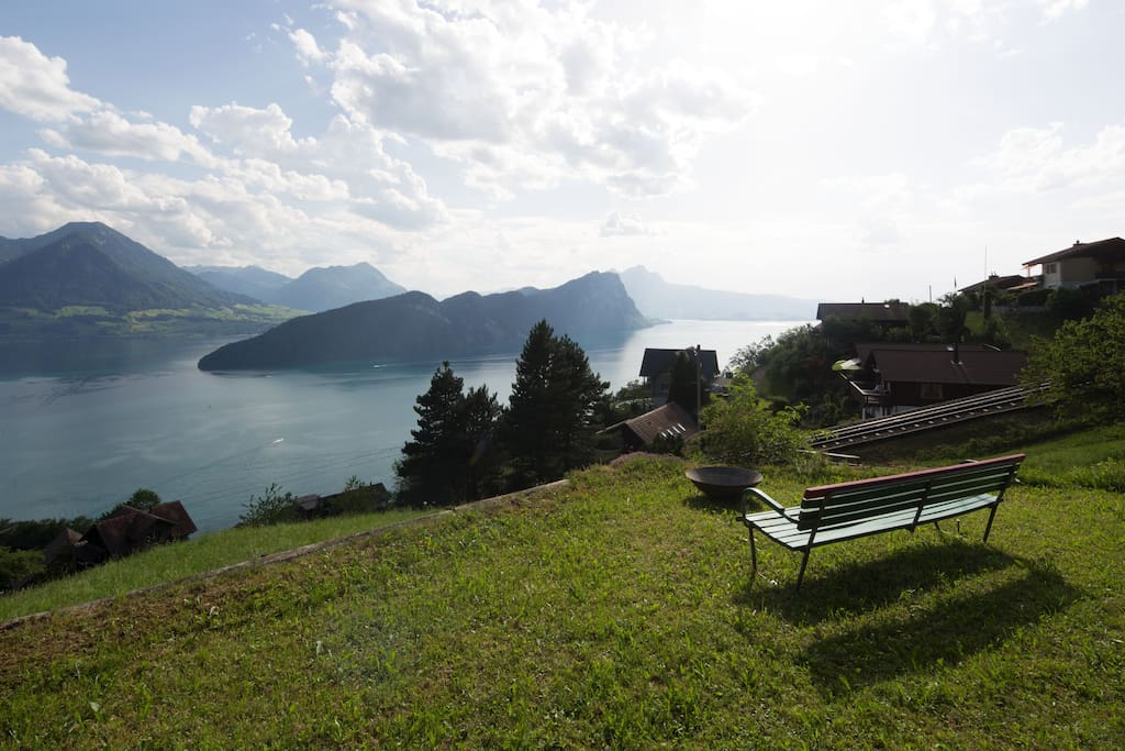 Panoramic view from private garden