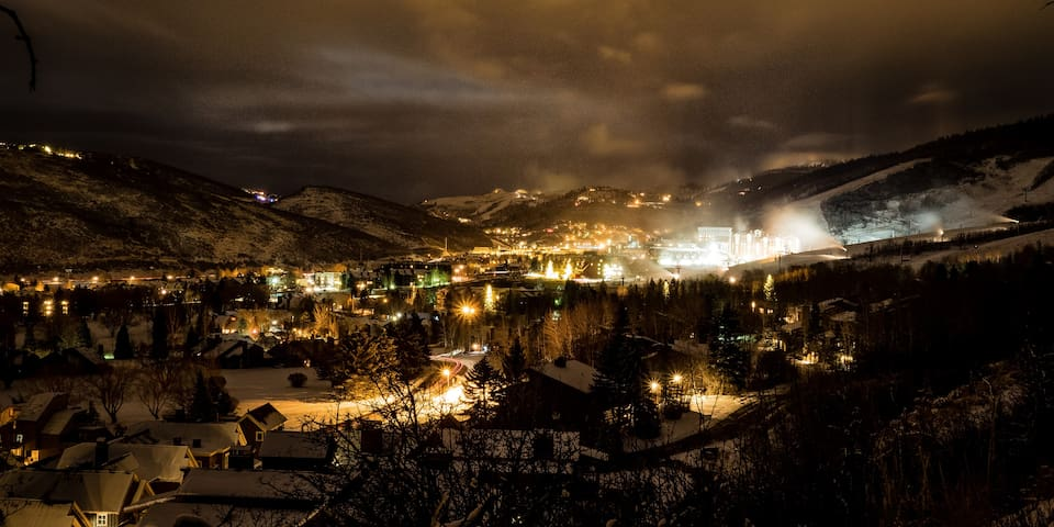 View of town and Park City Resort Center