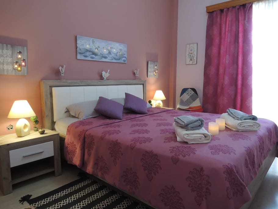 Bedroom with comfortable double bed