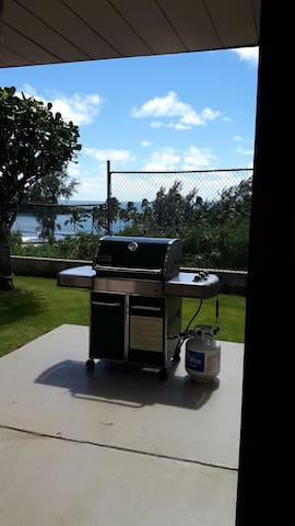 One of many grills on property