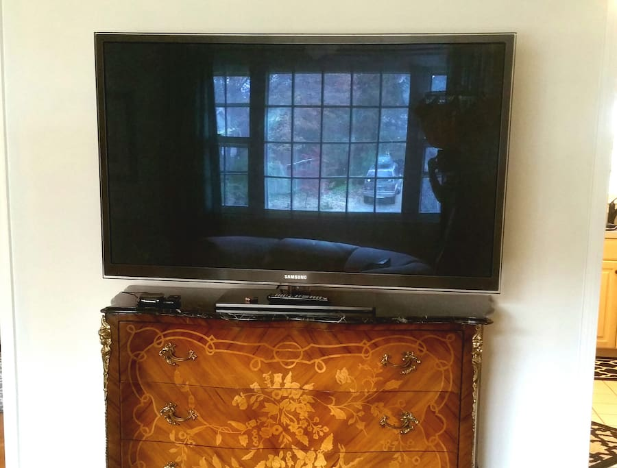 large TV in living room