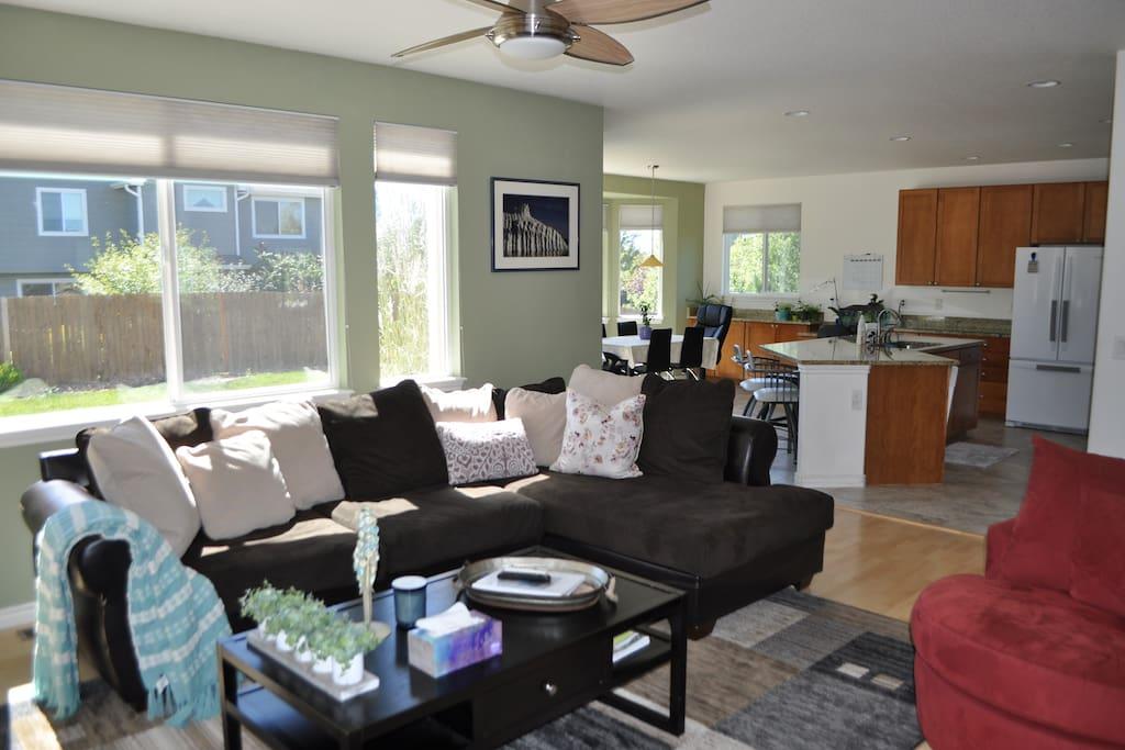 Bright and sunny family room