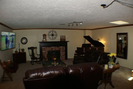 "Large private suite with 62"" TV, wet bar, laundry - Indianapolis"