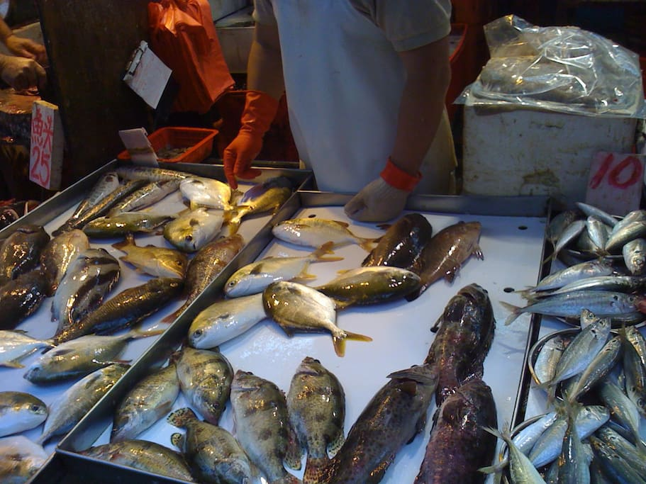 fish market near the flat