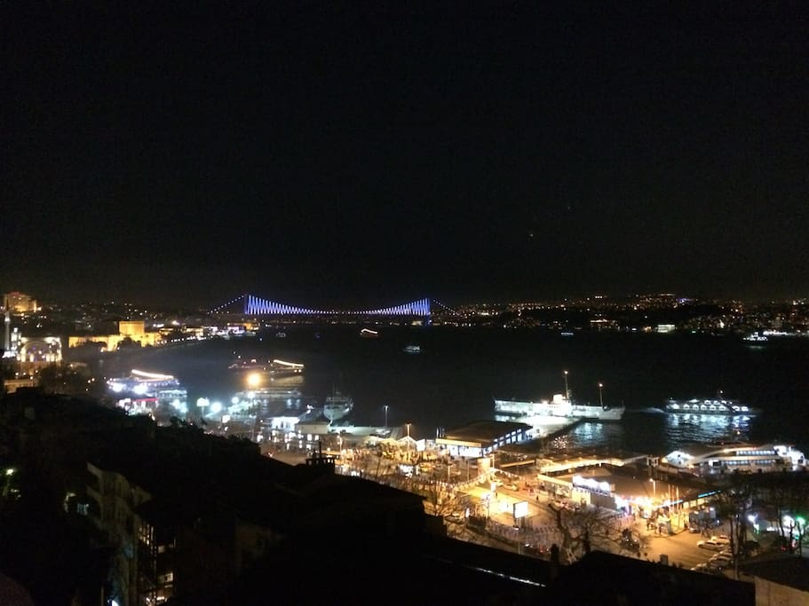 Amazing bosphorus view at night