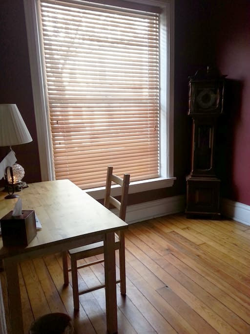 1st floor - Office space with natural light from huge window. House has high speed WiFi.