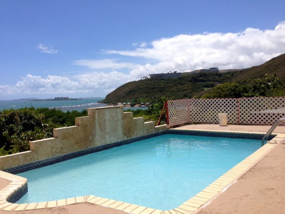 Cool Relaxing Private Pool with Caribbean Sea Views
