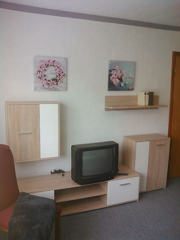 Wohnwand in Zimmer 1