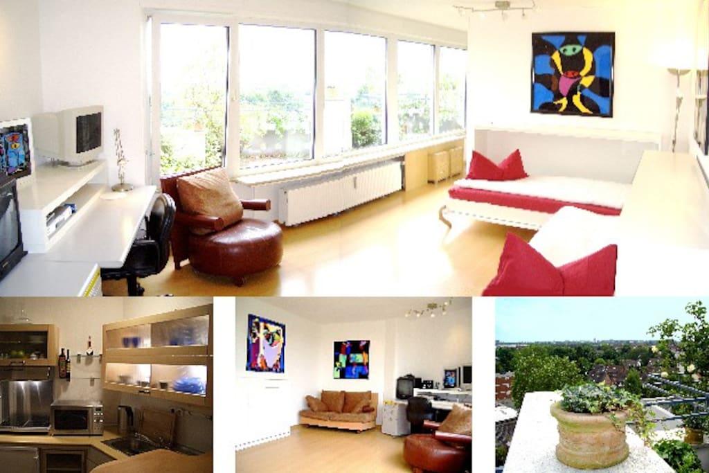 starshinestudio the studio of proms appartementen te huur in d sseldorf noord rijnland. Black Bedroom Furniture Sets. Home Design Ideas