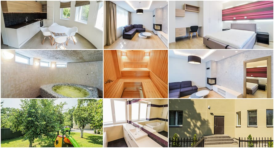Cozy apartment with sauna and Jacuzzi - Kaunas - Hus
