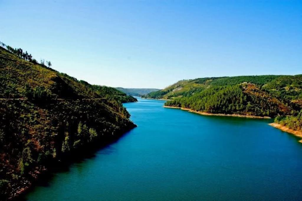 Castelo de Bode - dam which offers wide variety of water sports