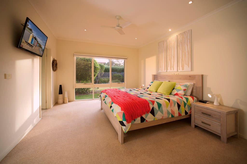 Master Bedroom with TV and Ensuite